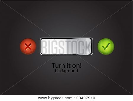 Vector turn on background