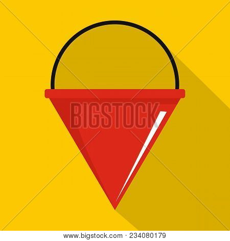 Fire Bucket Icon. Flat Illustration Of Fire Bucket Vector Icon For Web