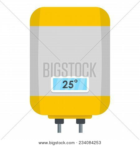 Climate Boiler Icon. Flat Illustration Of Climate Boiler Vector Icon For Web