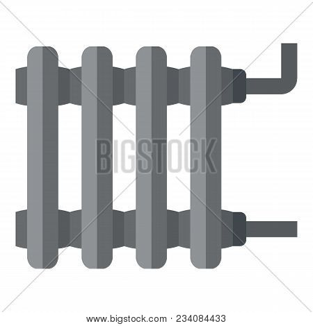 Heating Battery Icon. Flat Illustration Of Heating Battery Vector Icon For Web