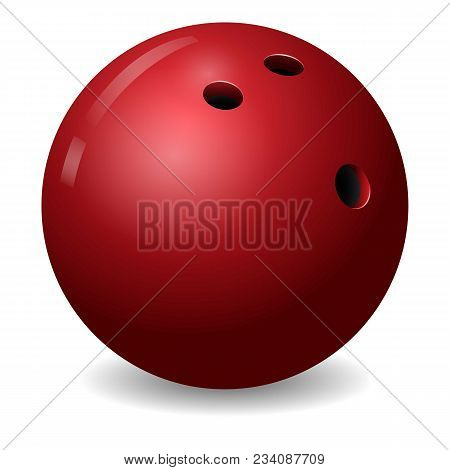 Bowling Ball Icon. Realistic Illustration Of Bowling Ball Vector Icon For Web