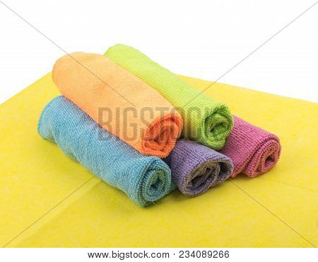 Multicolored Microfiber Isolated