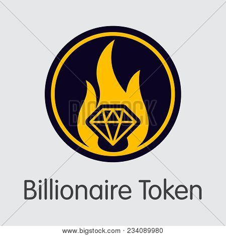 Billionaire Token Blockchain Sign Icon. Blockchain, Block, Distribution Xbl Transaction Icon