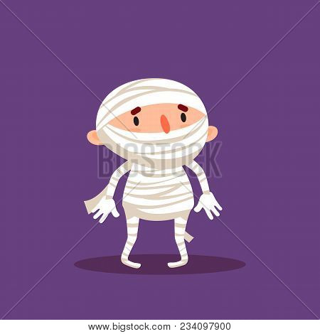 Mummy Halloween Child In Mummy Costume Trick Or Treat Element From Collection Of Emotional Character