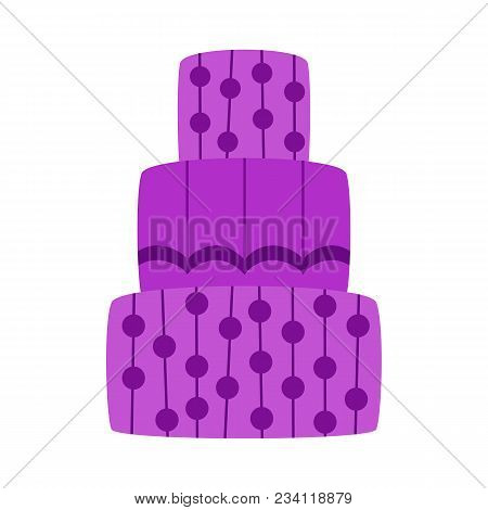Vector Cartoon Flat Celebration Cake