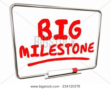 Big Milestone Dry Erase Board Achievement 3d Illustration