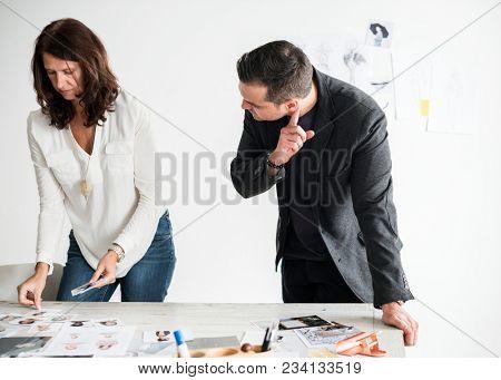 Magazine editor selecting models