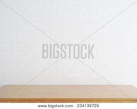 Empty Wooden Desktop