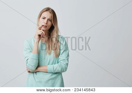 Indignant Blonde Female Student Being Dissatisfied With Results Of Exam Or Competition, Can T Believ