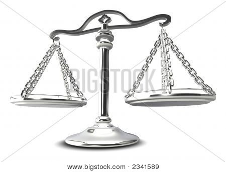 (3D) Scales Of Justice