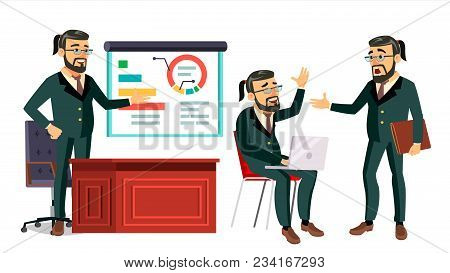 Boss Ceo Character Vector. Ceo, Managing Director, Representative Director. Poses, Emotions. Boss Me
