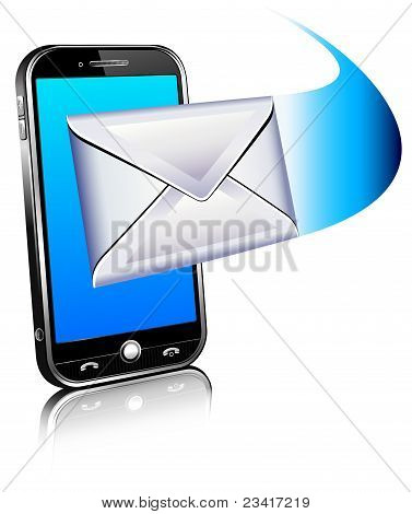 3D Send a letter icon - Mobile phone