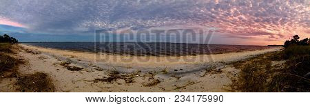 Beautiful Sandy Sunrise In Pensacola Beach, Florida