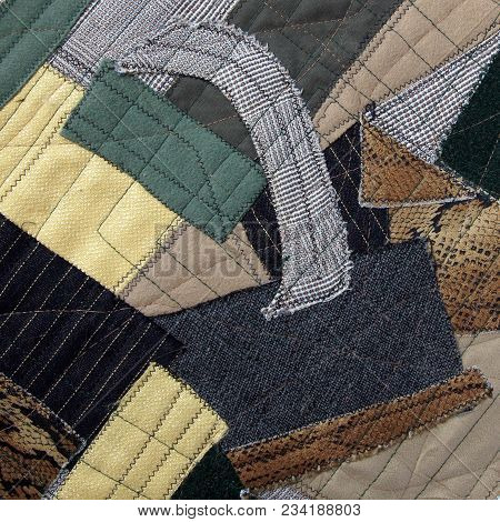 Fragment Of The Cubism Style Patchwork As Background