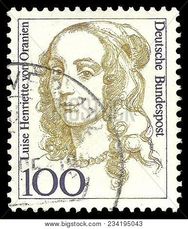 Germany - Circa 1994: Stamp Printed By Germany, Edition On Women In German History, Shows Elector Of