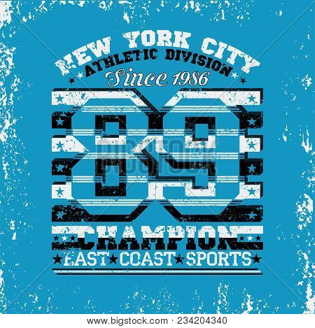 New York Typography, T-shirt  Nyc, Design Graphic,  Printing Man Nyc, Original Design Clothing, Grap