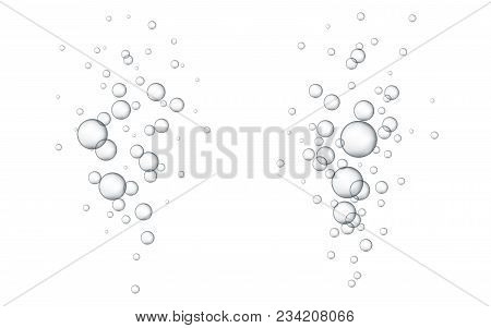 Water Bubbles Vector Illustration. Abstract Bubbles. White Background With Bubbles.