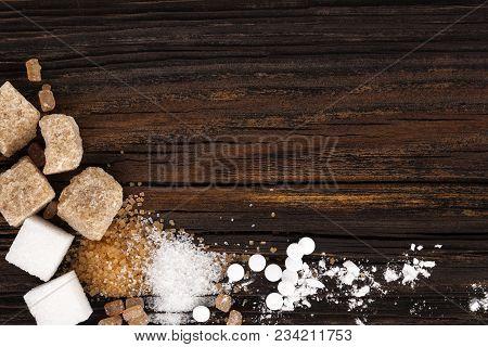 Various Types Of Sugar - Brown Sugar, White Sugar, Crystal Sugar, Artificial Sweetener, Cane Sugar A