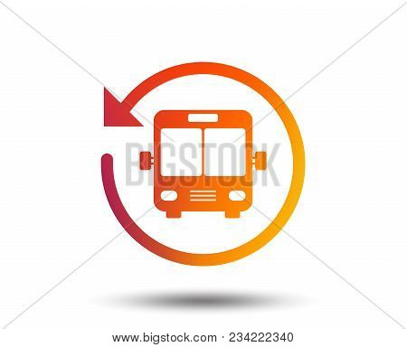Bus Shuttle Icon. Public Transport Stop Symbol. Blurred Gradient Design Element. Vivid Graphic Flat