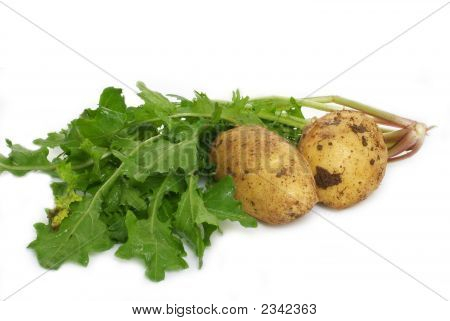 Fresh Patatoes & Green Vegetables