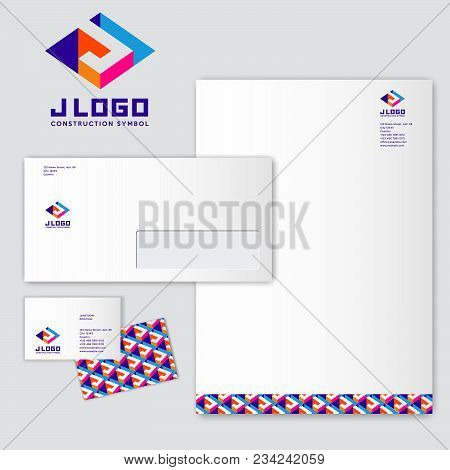 J Logo. J Monograms. Colored Three-dimensional J Letter With A White Background. Identity. Letterhea
