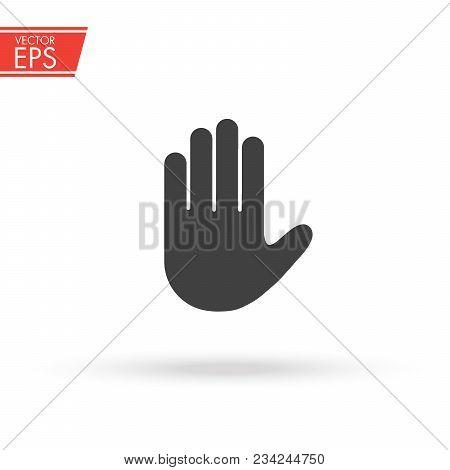 Stop Sign Push Hand Do Not Enter Vector Photo Bigstock
