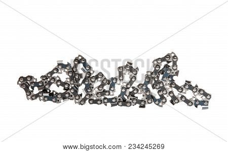Chain For Saw Isolated On White Background