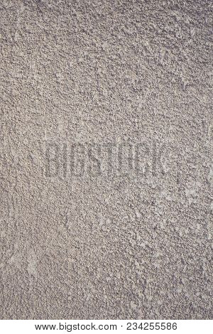 Concrete Wall With Decorative Parget Coating, Textured Background.