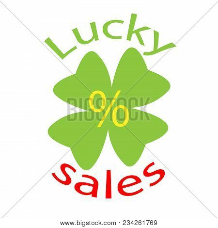 Clover Leaf Lucky Sales Discount Banner.