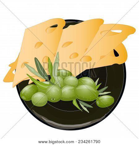 Cheese Organic Milk Fresh Food Illustration.