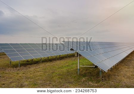 Photovoltaic Technological Construction Of Blue Solar Panels