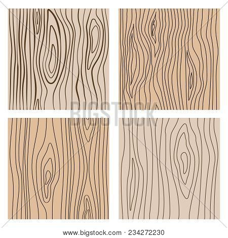 Abstract Wood Line Seamless Textures. Repeating Wooden Decoration Vector Background. Wood Texture Pa
