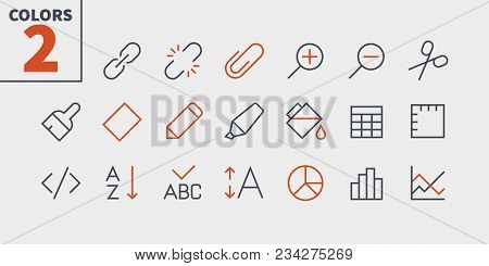 Edit Text Pixel Perfect Well-crafted Vector Thin Line Icons 48x48 Ready For 24x24 Grid For Web Graph