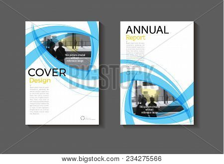 Blue Layout Blue Abstract  Background Modern Cover Design Modern Book Cover Brochure Cover  Template