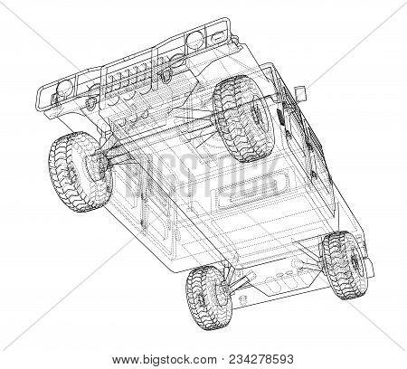 Combat car blueprint 3d image photo bigstock combat car blueprint 3d illustration wire frame style malvernweather Choice Image