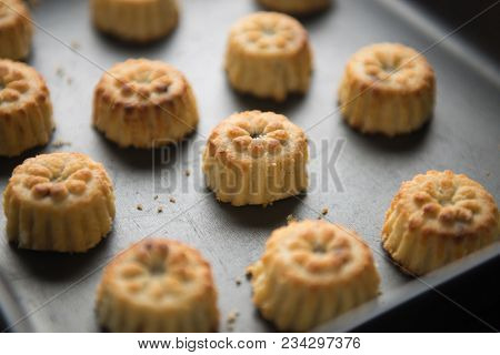 Maamoul - a popular middle eastern cookies in a baking tray. Ramadan recipe.