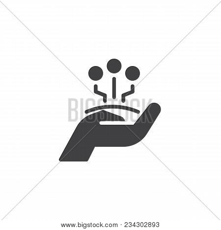 Share Technology Vector Icon. Filled Flat Sign For Mobile Concept And Web Design. Sharing Hand Solid