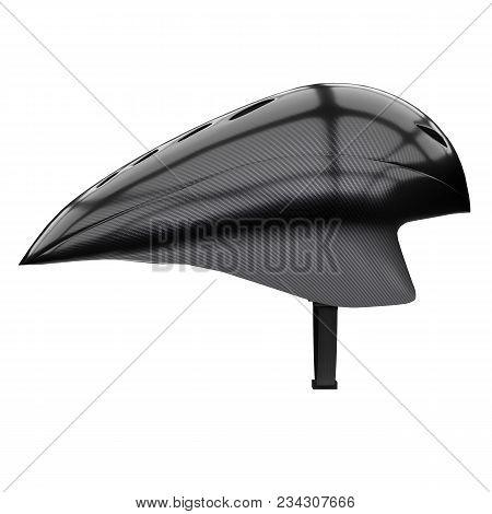 Time Trial Bicycle Carbon Helmet Model. Side View. Equipment Of Road Bicycle Racing. 3d Render Illus