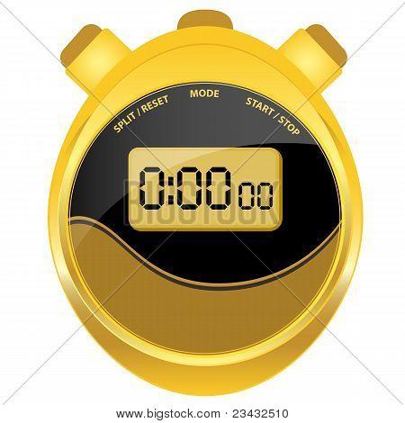 Digital Stopwatch Modern Oval Style