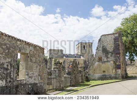Destroyed City During World War 2 In Oradour Sur Glane France