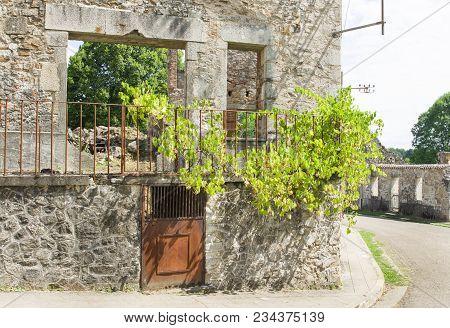 Destroyed House During World War 2 In Oradour Sur Glane France