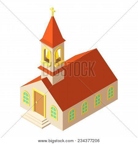 Muslim Church Icon. Isometric Illustration Of Muslim Church Vector Icon For Web