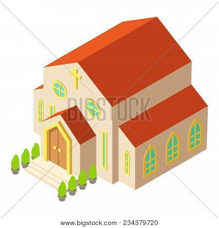 Church Architecture Icon. Isometric Illustration Of Church Architecture Vector Icon For Web