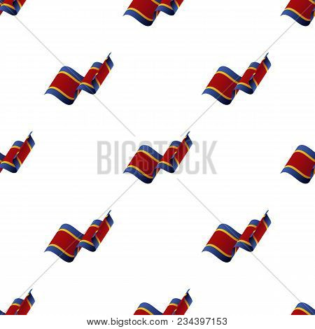 Seamless Pattern With Waving Flag. Swaziland Flag. Vector Illustration.