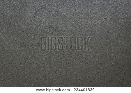 Background Of Rough Texture Of Black Paint Concrete Wall