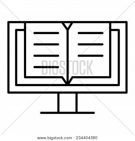 Read Online Book Vector Icon. E-book Graphic Design Single Icon. Eps 10.