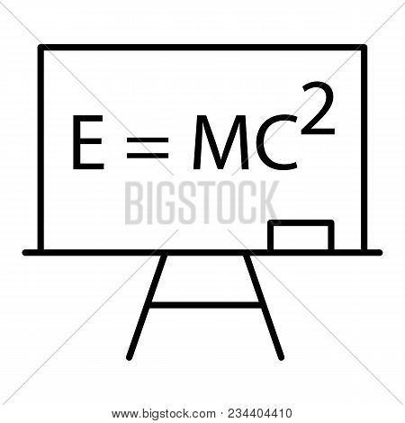 Blackboard Icon In Thin Outline Style. Education School College Physics Math