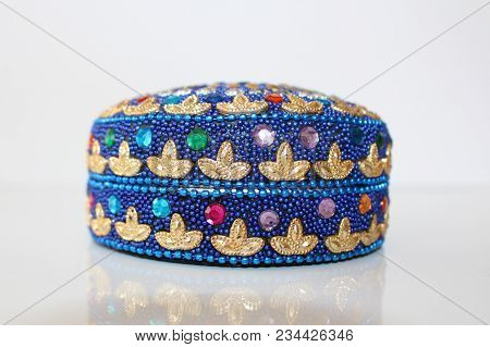 Decorate Box. Jewelry Box. Gift Box Decorate. Oriental Colorful Box.