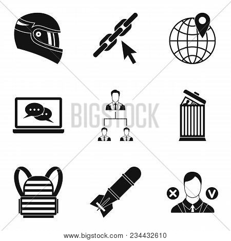 Conquest Icons Set. Simple Set Of 9 Conquest Vector Icons For Web Isolated On White Background