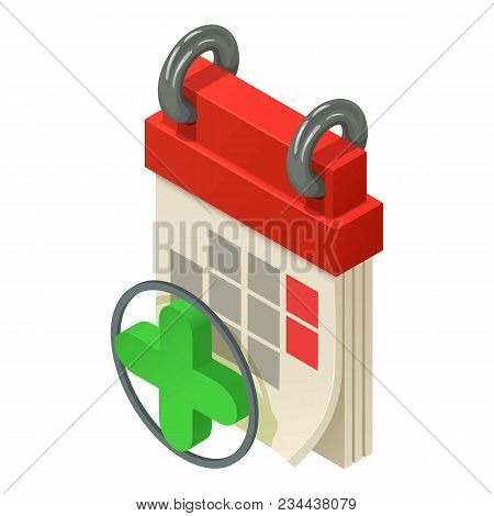 Daily Calendar Icon. Isometric Illustration Of Daily Calendar Vector Icon For Web